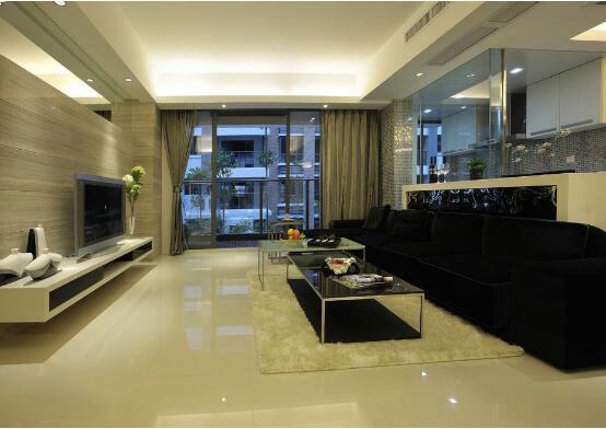 一套大理石風格90平米三室一廳裝修效果圖