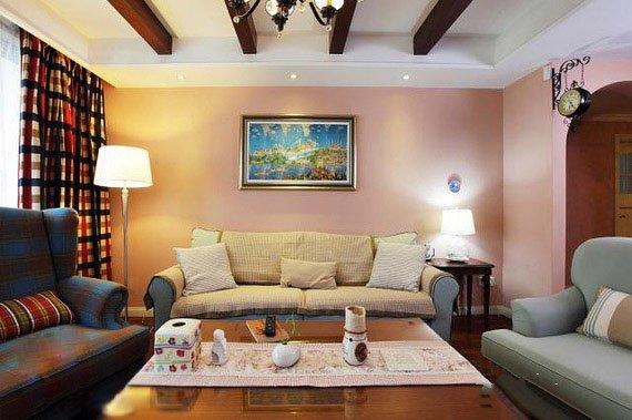 一套简欧风格凹型沙发装修效果图
